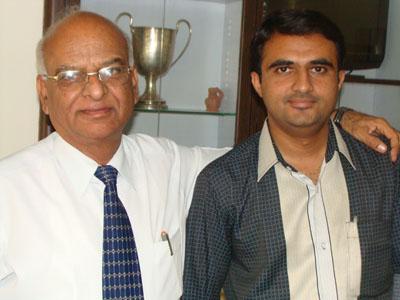 Devang Vibhakar with Vinodkumar Thakkar