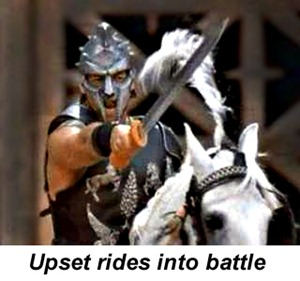 Upset rides into battle
