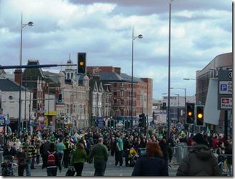 Район Digbeth, в котором проходил парад