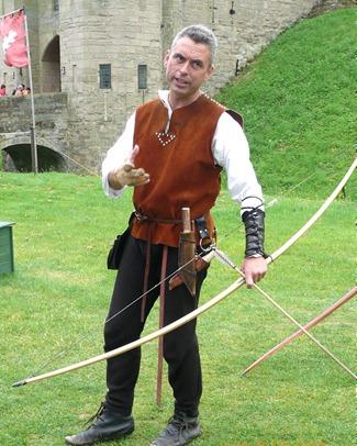 Лучник в Уорикском замке