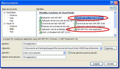 ASP.NET MVC 1 y 2 al mismo tiempo, vamos a llevarnos bien...