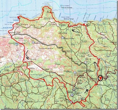 Mapa LLorea-Sendas Gijon