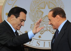 Berlusconi and Mubarak