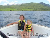 Emily and Katey on enjoying the front of the boat