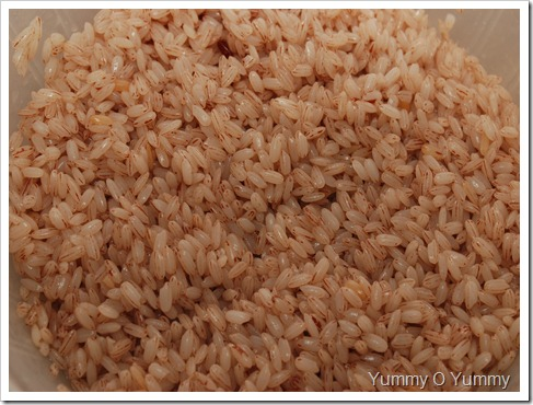 Soaked rice