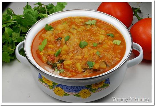 Bottle Gourd ( Lauki, Churakka) Curry