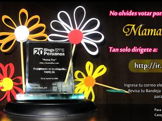 No olvides votar por MamaFlor en el concurso de 20Blogs!