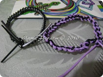 Como hacer pulseras con cordon de plastico