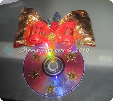 ¡Convierte un CD o DVD en un Adorno Navideño! - Manualidades de Reciclaje