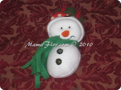 Adornos para el Árbol de Navidad: Muñeco de Nieve, paso a paso