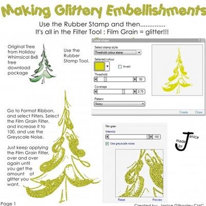 Glitter embillishments