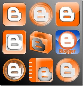 Icon blogger ini gratis untuk pemakaian web atau blog non komersil,