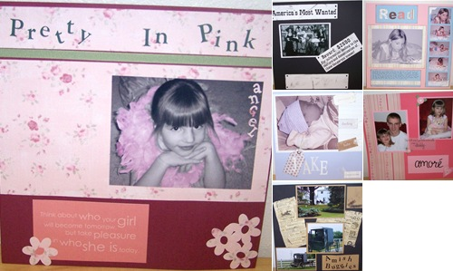 View scrapbook pages