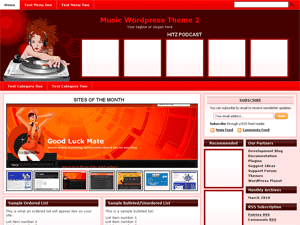 Music Wordpress Theme 2