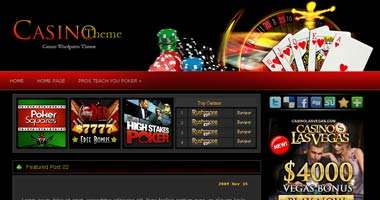 Casino Wordpress Theme - wpg130
