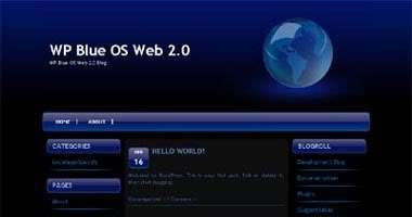 WP Blue OS Web 2.0