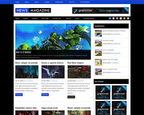 News Magazine  Free news magazine wordpress theme, with content slider and lots of features built in! Read me included with usage instructions and PSD logo. Theme is fixed witdth, with right and bottom sidebars, automatic image resizing, additional option