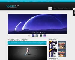 SimpleBlue Magazine WordPress Theme