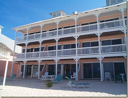 our condo from beach