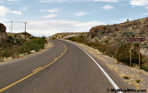 Old Ore Road ahead
