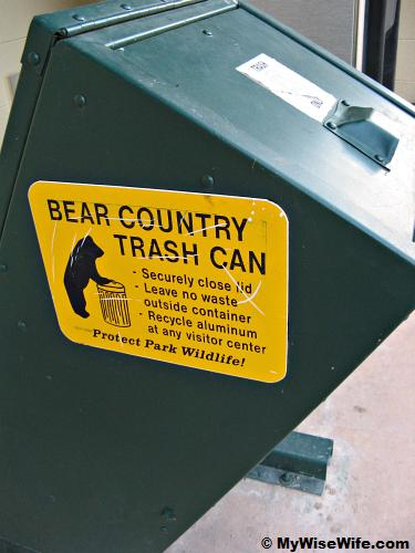 Special Trash for man in Bear Country