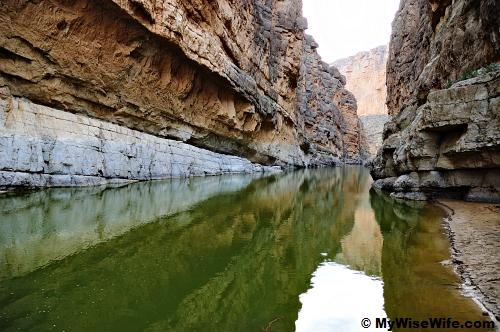 Beautiful perspective of Santa Elena Canyon and Rio Grande