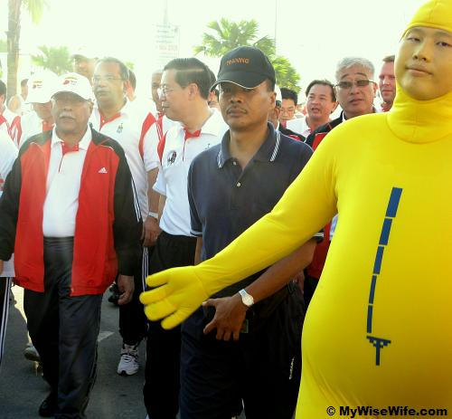 Caught by surprise - Digi Man and Mr Lim Guan Eng