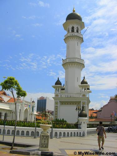 Minaret and tourist information center at ground level
