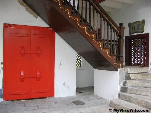 Historic door and staircase