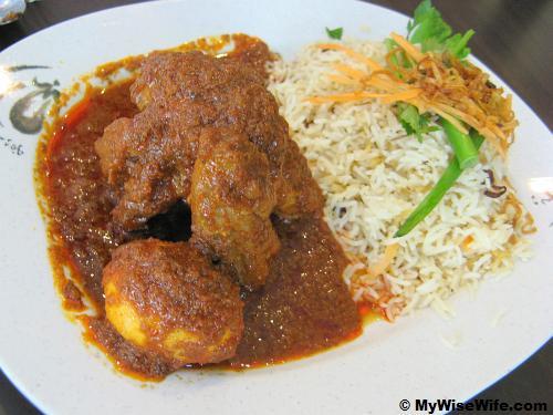 Briyani Gam Ayam Masak Merah (Red Gravy Chicken)