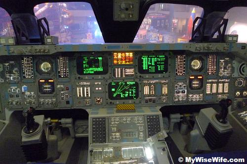 Space Shuttle Mock-up - The cockpit