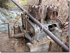 Old engine for the water pump at the mine.
