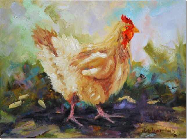 Chicken, Oil Painting, Jean Levert Hood