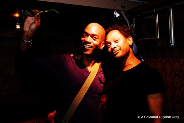 Me (Bill Gray) and Derrick May at Be Club, Auckland, New Zealand in 2010.