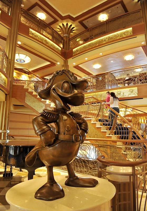 ADMIRAL DONALD DUCK IN ATRIUM LOBBY OF DISNEY DREAM