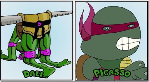 ninja turtles as classical art5