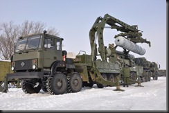 Special vehicles for the Russian S-400 air defense system missile launch vehicle lifting