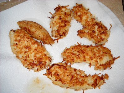 fried coconut chicken