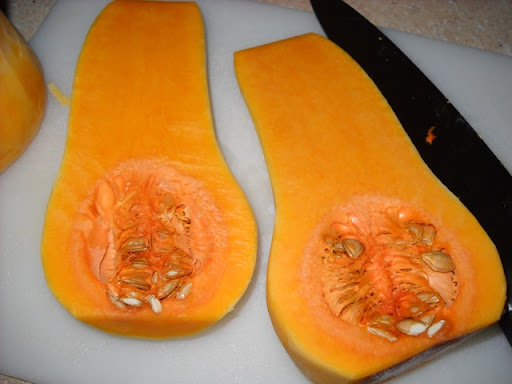 Peeled squash for storing