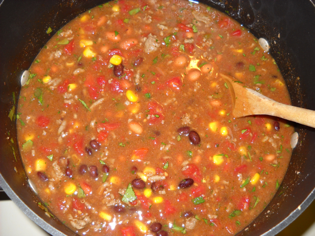 finished taco soup