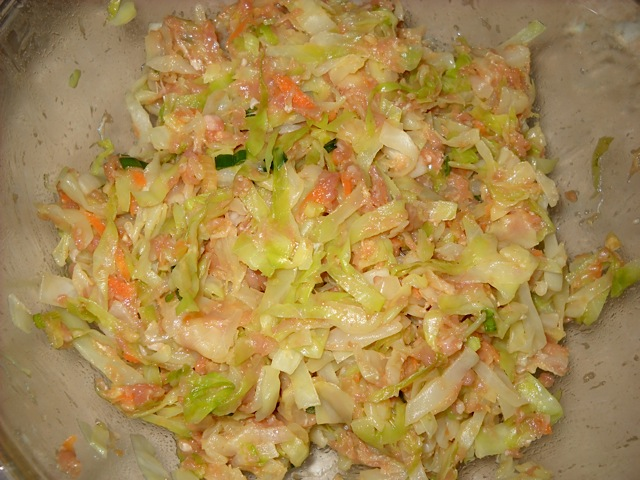 pork filling with cabbage