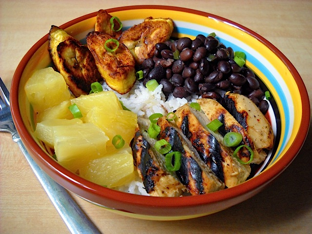 jamaican jerk chicken bowl