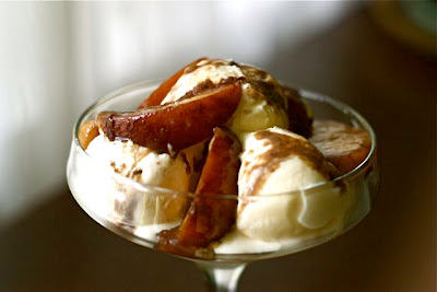Balsamic Peach Sundae