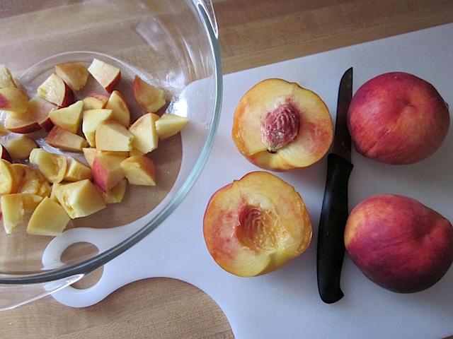 dice peaches