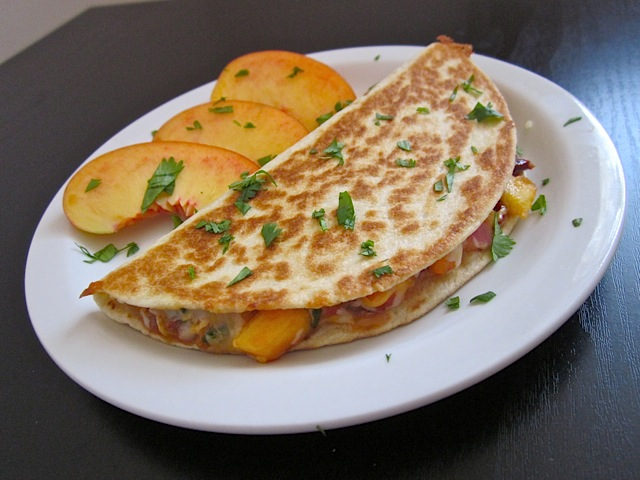 Peach Quesadilla