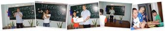 """Literacy Class in Clabayog on Culmination Program & Graduation カルバヨグの識字教室 買い物ごっこと卒業式"" の表示"