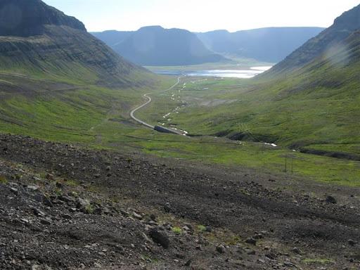Gangnamuninn á Ísafjarðargöngunum Öndunarfjarðarmegin