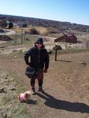 With Foxy on Castle Rock trail