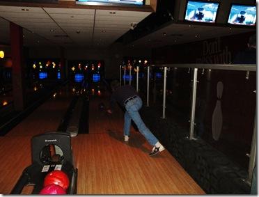 18.  Dad bowling