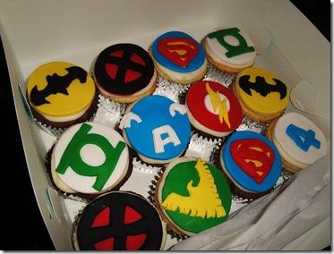 7.  Superhero Cupcakes